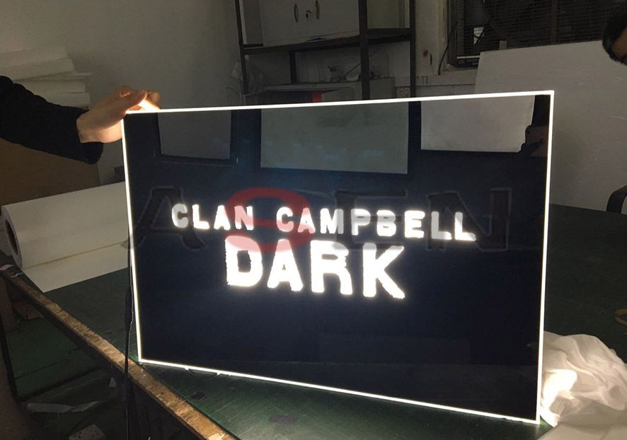 Custom Acrylic LED Edge-lit Sign